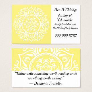 Cartes De Visite Mandala de fruit d'étoile