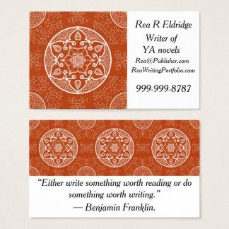 Cartes De Visite Mandala de henné