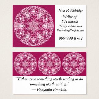Cartes De Visite Mandala de vin