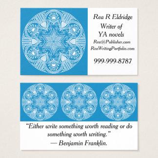 Cartes De Visite Mandala d'oiseau bleu