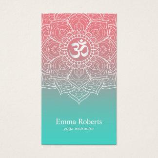 Cartes De Visite Mandala élégant Namaste de Lotus d'instructeur de