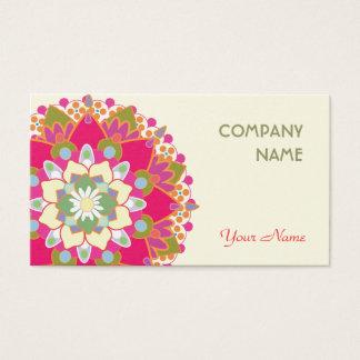 Cartes De Visite Mandala floral coloré