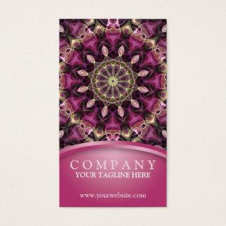 Cartes De Visite Mandala pourpre de fleur