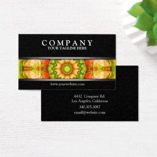 Cartes De Visite Mandala vert rouge de pommes moderne