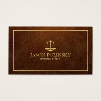 Cartes De Visite Mandataire en cuir élégante et moderne de Brown