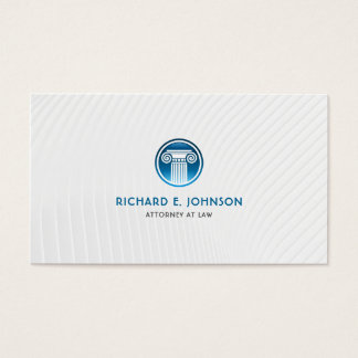 Cartes De Visite Mandataire ferme d'avocat d'icône bleue de pilier