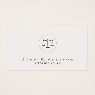 Cartes De Visite Mandataire simple et élégante d'échelle de justice