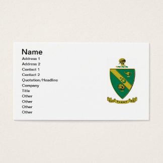 Cartes De Visite Manteau d'alpha Rho gamma des bras officiel