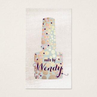 Cartes De Visite Manucure polonais de salon d'ongle de bouteille de