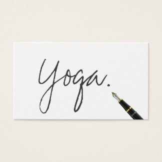 Cartes De Visite Manuscrit manuscrit d'instructeur de yoga élégant