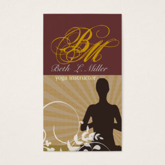 Cartes De Visite Manuscrit spirituel de fantaisie d'instructeur de