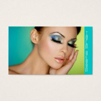Cartes De Visite Maquillage fermé de yeux