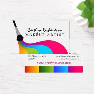 Cartes De Visite Maquilleur coloré