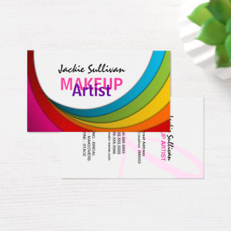 Cartes De Visite Maquilleur coloré de remous
