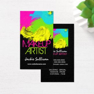 Cartes De Visite Maquilleur coloré de traçages