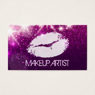 Cartes De Visite Maquilleur de cosmétologie - parties scintillantes