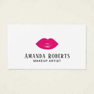 Cartes De Visite Maquilleur de minimaliste de lèvres de roses