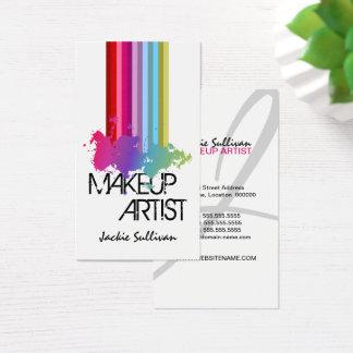 Cartes De Visite Maquilleur d'éclaboussure de couleur