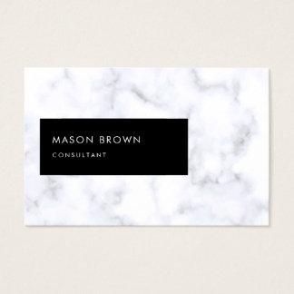 Cartes De Visite Marbre blanc élégant moderne de Profi de