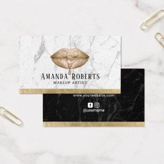 Cartes De Visite Marbre moderne de blanc de lèvres d'égouttement