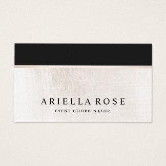 Cartes De Visite Marbre noir et blanc élégant Luxe