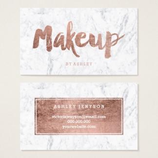 Souvent Cartes de visite Maquillage personnalisées   Zazzle.fr JW74