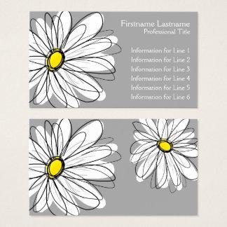 Cartes De Visite Marguerite lunatique - gris jaune