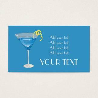 Cartes De Visite Martini bleu