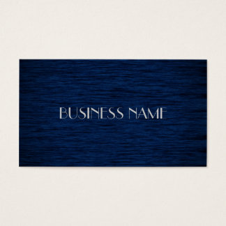 Cartes de visite matériels en bois bleu-foncé