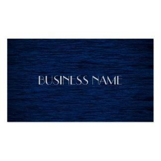 Cartes de visite matériels en bois bleu-foncé modèles de cartes de visite