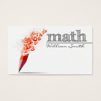 Cartes De Visite Math Teacher Business card