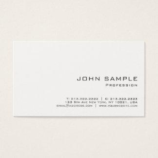 Cartes De Visite Matte blanche moderne professionnelle minimaliste