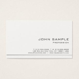 Cartes De Visite Matte blanche moderne professionnelle simple