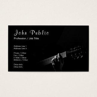 Cartes De Visite Matte UV de signature de leçons de guitare