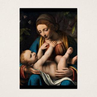 Cartes De Visite Med Kristusbarnet.pg de Madonna