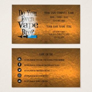 Cartes De Visite Médias de cuivre de Social d'affaires de VAPE |