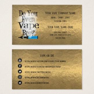 Cartes De Visite Médias en bronze de Social d'affaires de VAPE  
