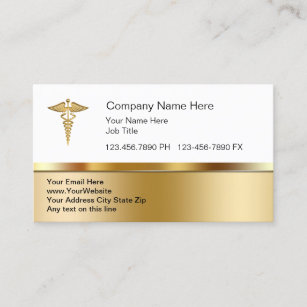 Cartes De Visite Medicaux Chics