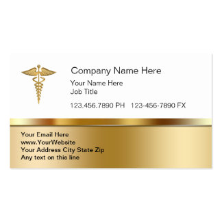 Cartes de visite médicaux chics cartes de visite professionnelles
