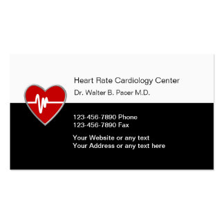 Cartes de visite médicaux de cardiologie carte de visite standard