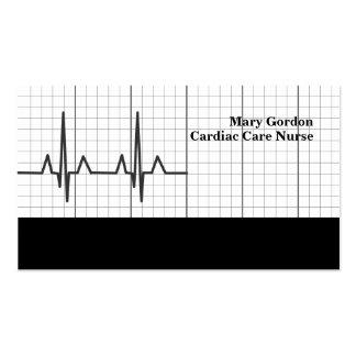 Cartes de visite médicaux d'infirmière cardiaque d carte de visite