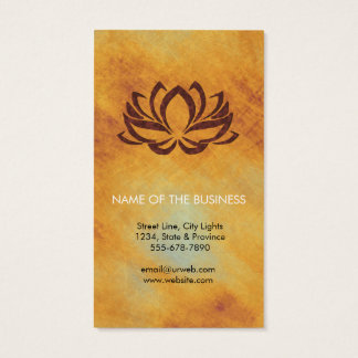 Cartes De Visite Méditation d'instructeur de yoga de fleur de Lotus
