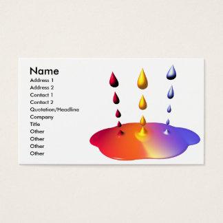 Cartes De Visite Mélange de peinture - taille d'affaires