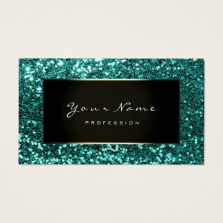 Cartes De Visite Menthe de noir d'Aqua de Blogger de mode de