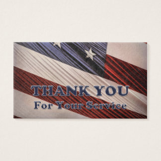 Cartes De Visite Merci patriotique de drapeau de vétérans