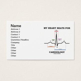 Cartes De Visite Mes battements de coeur pour la cardiologie