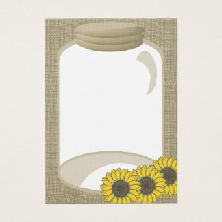 Cartes De Visite Message de wedding shower de pot et de tournesol