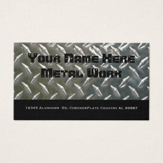 Cartes De Visite Métal en aluminium bilatéral pour le mécanicien ou