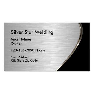 Cartes de visite métalliques de soudure de regard carte de visite standard
