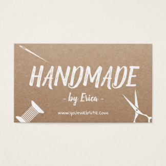 Cartes De Visite Métiers de couture faits main Papier d'emballage
